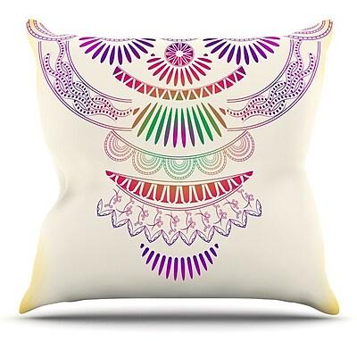 KESS InHouse Decorative Ornament by Famenxt Throw Pillow; 16'' H x 16'' W x 3'' D
