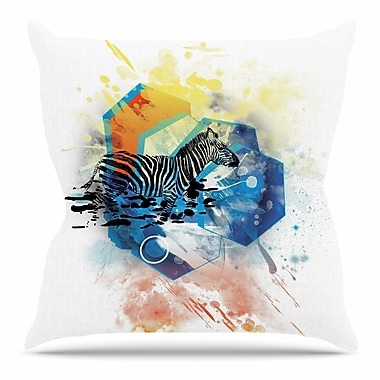 KESS InHouse Walk Off The Colors by Frederic Levy-Hadida Throw Pillow; 16'' H x 16'' W x 3'' D