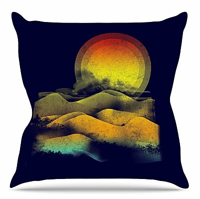 KESS InHouse Sunset by Frederic Levy-Hadida Throw Pillow; 16'' H x 16'' W x 3'' D