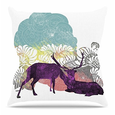 KESS InHouse Tenderness by Frederic Levy-Hadida Throw Pillow; 18'' H x 18'' W x 3'' D