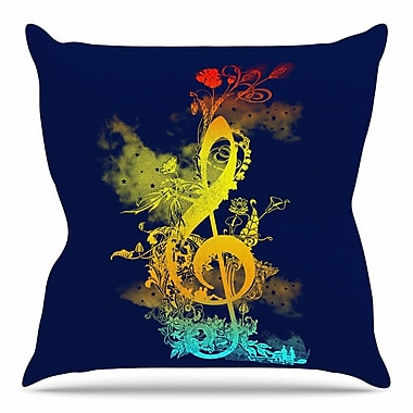 KESS InHouse Sound of Nature by Frederic Levy-Hadida Throw Pillow; 26'' H x 26'' W x 5'' D