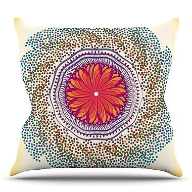 KESS InHouse Confetti Dots Mandala by Famenxt Throw Pillow; 26'' H x 26'' W x 5'' D