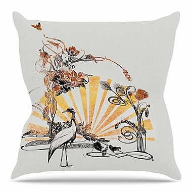 KESS InHouse Art Nouveau Tune by Frederic Levy-Hadida Throw Pillow; 16'' H x 16'' W x 3'' D