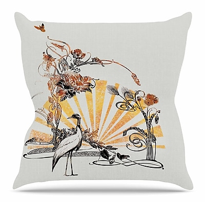 KESS InHouse Art Nouveau Tune by Frederic Levy-Hadida Throw Pillow; 18'' H x 18'' W x 3'' D