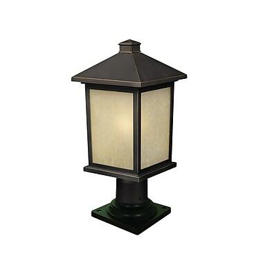 Z-Lite Holbrook 1-Light Pier Mount Light; Oil Rubbed Bronze