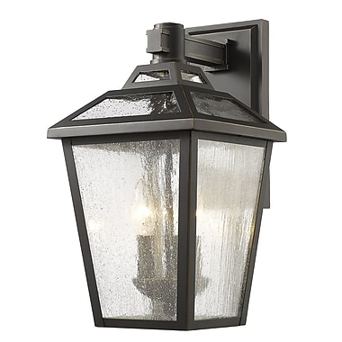 Z-Lite Bayland 3-Light Outdoor Wall Lantern; Oil Rubbed Bronze