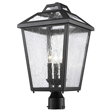 Z-Lite Bayland 3-Light Lantern Head; Black