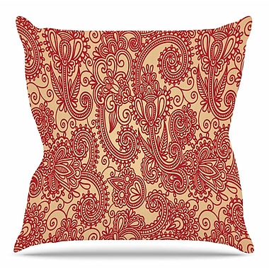 KESS InHouse Floral Loop by Fotios Pavlopoulos Throw Pillow; 18'' H x 18'' W x 3'' D