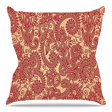 KESS InHouse Floral Loop by Fotios Pavlopoulos Throw Pillow; 26'' H x 26'' W x 5'' D