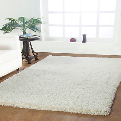Affinity Linens Affinity Hand-woven Cream Area Rug; Rectangle 3' x 5'
