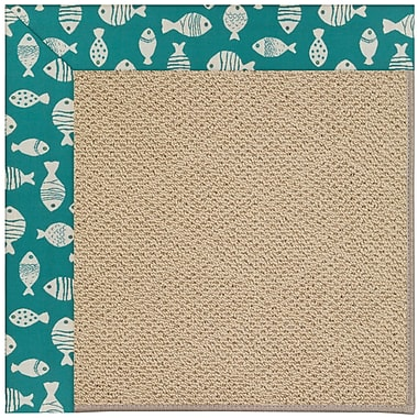 Capel Zoe Machine Tufted Sea Green/Brown Indoor/Outdoor Area Rug; Square 4'