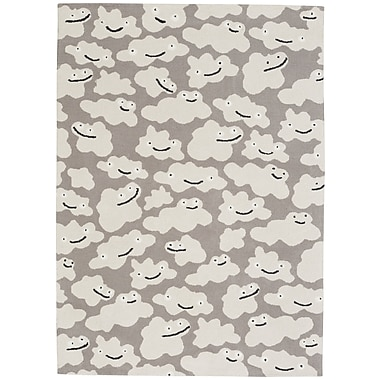 Capel Hable Construction Sky Puffy Machine Woven Silver Area Rug; 2' x 3'