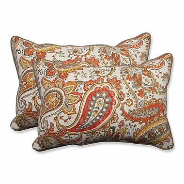 Pillow Perfect Hadia Sunset Outdoor/Indoor Throw Pillow (Set of 2); 16.5'' H x 24.5'' W