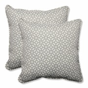 Pillow Perfect In the Frame Indoor/Outdoor Throw Pillow (Set of 2); Pebble