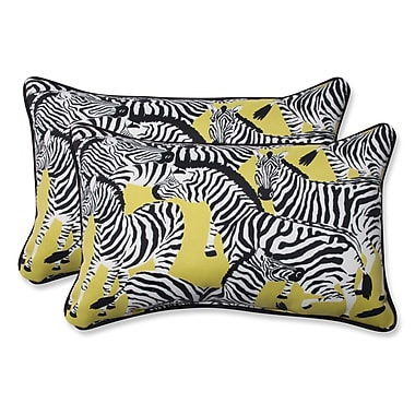 Pillow Perfect Herd Together Wasabi Indoor/Outdoor Throw Pillow (Set of 2); 11.5'' H x 18.5'' W