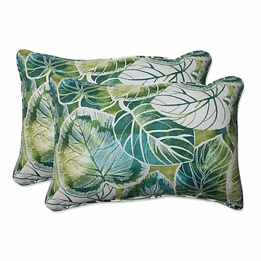 Pillow Perfect Key Cove Lagoon Indoor/Outdoor Throw Pillow (Set of 2); 16.5'' H x 24.5'' W