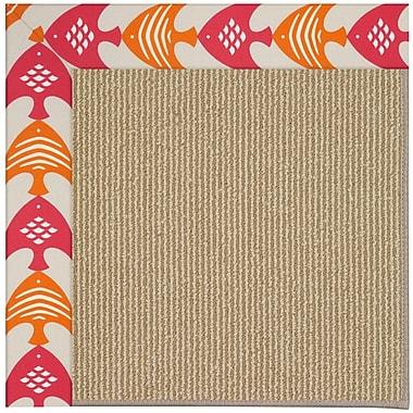 Capel Zoe Machine Tufted Autumn/Brown Indoor/Outdoor Area Rug; Round 12' x 12'