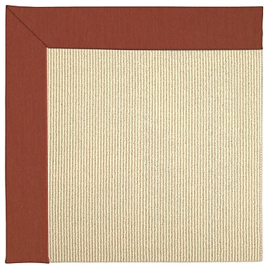 Capel Zoe Machine Tufted Strawberry/Beige Indoor/Outdoor Area Rug; Rectangle 9' x 12'