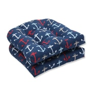 Pillow Perfect Anchor Allover Outdoor Dining Chair Cushion (Set of 2)