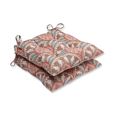 Pillow Perfect Crescent Beach Outdoor Dining Chair Cushion (Set of 2)