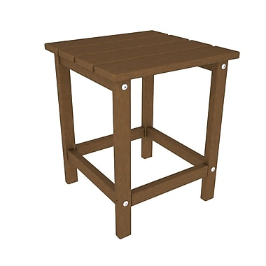 POLYWOOD Long Island Side Table; Teak