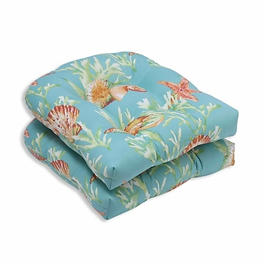 Pillow Perfect Daytrip Outdoor Dining Chair Cushion (Set of 2); Seaspray