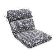 Pillow Perfect In the Frame Outdoor Dining Chair Cushion; Ebony
