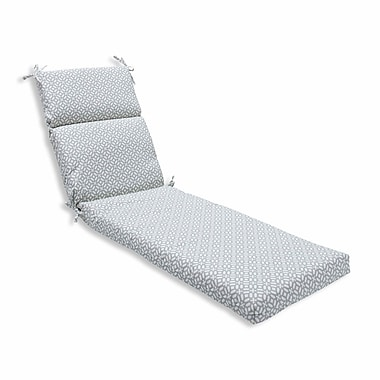 Pillow Perfect In the Frame Outdoor Chaise Lounge Cushion; Pebble