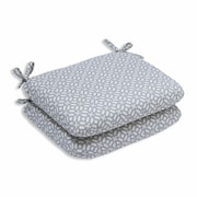 Pillow Perfect In the Frame Outdoor Dining Chair Cushion (Set of 2); Pebble