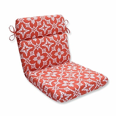 Pillow Perfect Aspidoras Outdoor Dining Chair Cushion; Coral