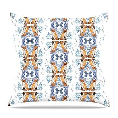 KESS InHouse Fox in Snow by DLKG Design Throw Pillow; 20'' H x 20'' W x 4'' D