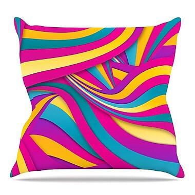 KESS InHouse Swirls Everywhere by Danny Ivan Throw Pillow; 18'' H x 18'' W x 3'' D