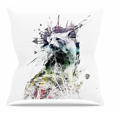KESS InHouse Predation Instinct by Frederic Levy-Hadida Throw Pillow; 16'' H x 16'' W x 3'' D
