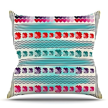 KESS InHouse Love Pattern by Famenxt Throw Pillow; 18'' H x 18'' W x 3'' D