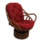 Bay Isle Home Tobago Swivel Rocker Chair; Red