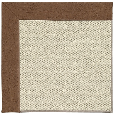 Capel Inspirit Linen Machine Tufted Camel/Brown Area Rug; Square 6'