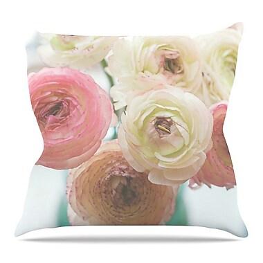 KESS InHouse Pastel Ranunculus by Debbra Obertanec Throw Pillow; 18'' H x 18'' W x 3'' D