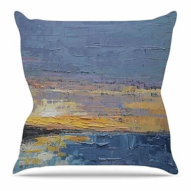 KESS InHouse Caribbean Sunset by Carol Schiff Throw Pillow; 18'' H x 18'' W x 3'' D