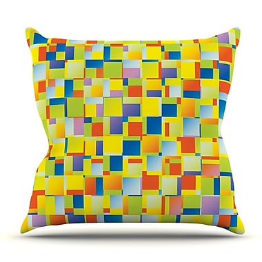 KESS InHouse Multi Color Blocking by Dawid Roc Throw Pillow; 18'' H x 18'' W x 3'' D