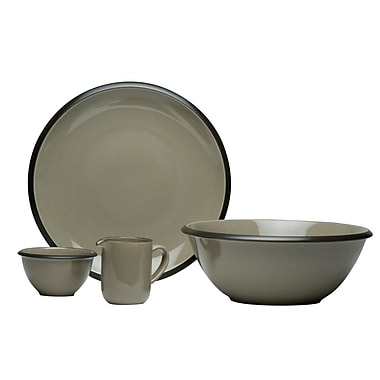 Red Vanilla Hampshire 4 Piece Place Setting, Service for 1; Gray