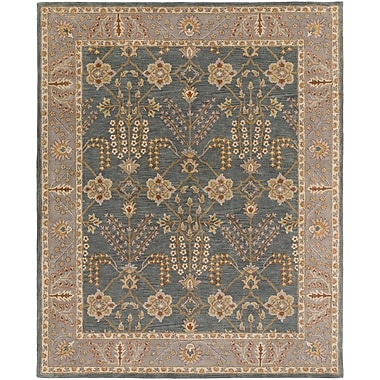 Artistic Weavers Middleton Kelly Hand-Crafted Slate/Beige Area Rug; Rectangle 9' x 13'
