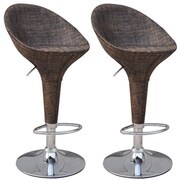 HomCom Adjustable Height Swivel Bar Stool (Set of 2)