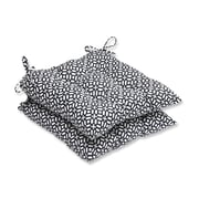 Pillow Perfect In the Frame Outdoor Dining Chair Cushion (Set of 2); Ebony