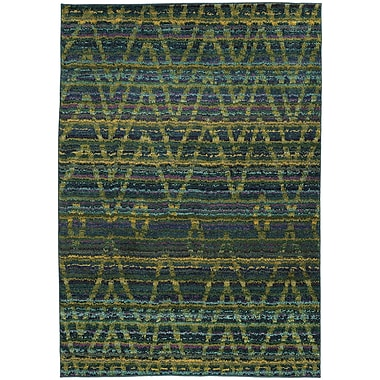 Bungalow Rose Marquis Green/Blue Area Rug; 5'3'' x 7'6''