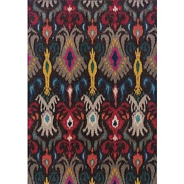 Bungalow Rose Terrell Tribal Ikat Grey/Multi Area Rug; 7'10'' x 11'