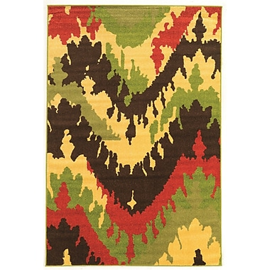 Williston Forge Thorton Modern Brown Area Rug; 2' x 3'