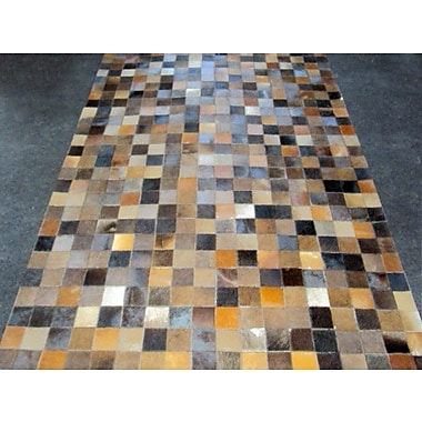Modern Rugs Patchwork Baltic II Brown Area Rug; Square 6'
