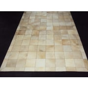 Modern Rugs Patchwork Ivory Box Area Rug; Square 4'