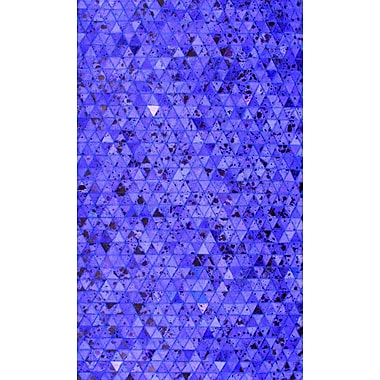 Modern Rugs Patchwork Geo Blue Area Rug; Square 6'