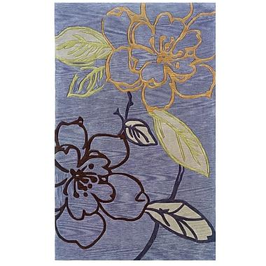 Varick Gallery Askins Hand-Tufted Purple Area Rug; 1'10'' x 2'10''